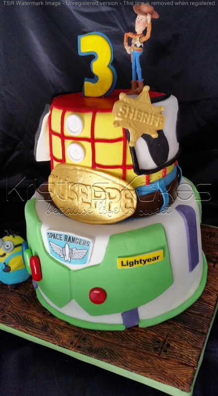 Toy Story Themed Birthday Cake