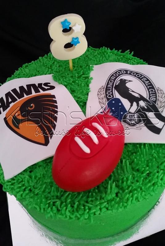 Football Themed Birthday Cake Kristin S Kakes